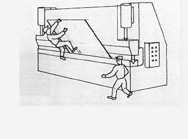 When operating machinery, it's important to be careful, or else accidents can happen.