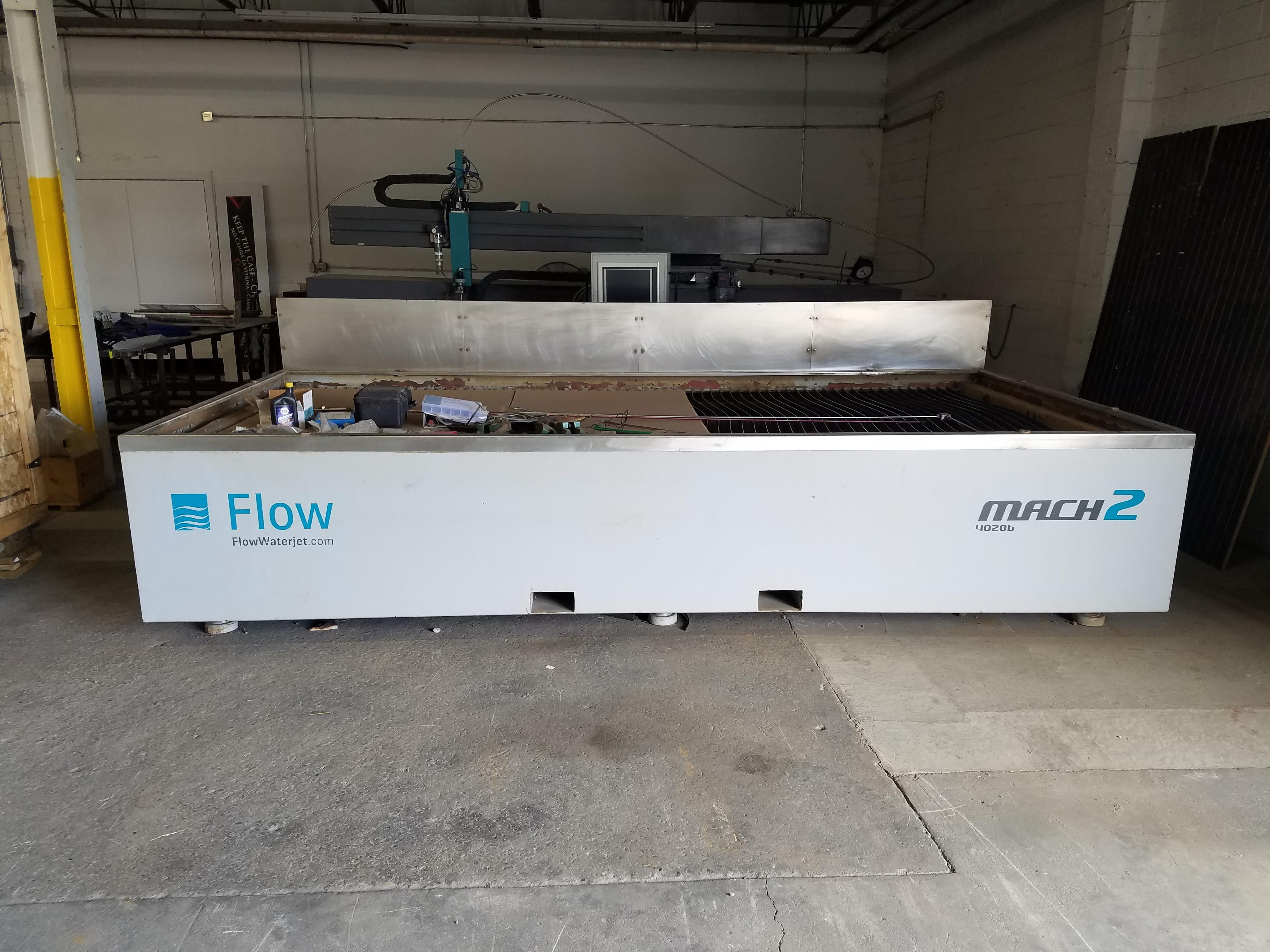 2014 Flow Mach II 4020B Waterjet Cutting System (#1842)