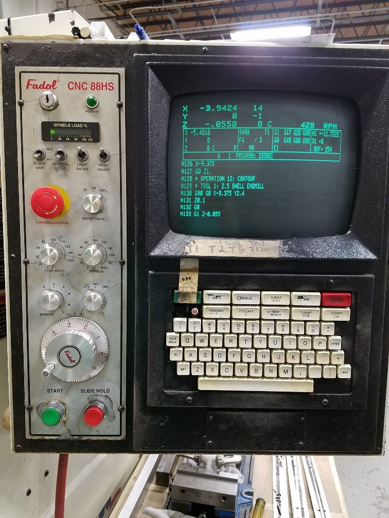 1999 Fadal 4020A-HT Vertical Machining Center (#1893)