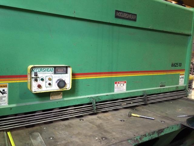 Accurshear 862510 Hydraulic Power Squaring Shear (#1289)